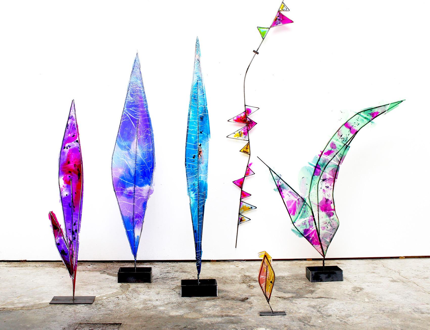 Romain Vicari - Installation, résine, acier, colorants. Aubervilliers